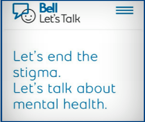 #BellLet'sTalk About Mental Health