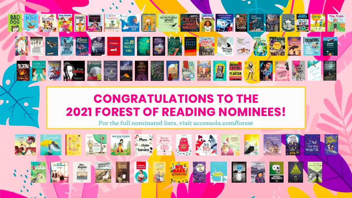 Congratulations to our Forest of Reading nominees!
