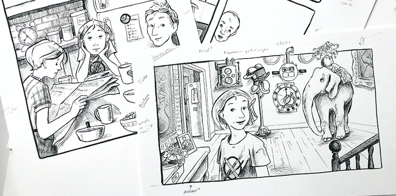 Guest Post: Why a hybrid graphic novel was the perfect format for Every Home Needs an Elephant
